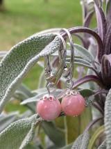 Náušnice - Ružový andský opál - náušnice v striebre - 8849733_