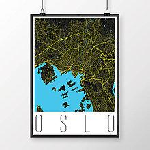 Obrazy - OSLO, moderné, čierne - 8847444_