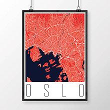 Obrazy - OSLO, moderné, červené - 8849195_