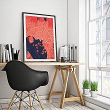 Obrazy - OSLO, elegantné, červené - 8849205_