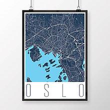 Obrazy - OSLO, moderné, tmavomodré - 8849804_