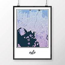Obrazy - OSLO, klasické, modro-fialové - 8849892_