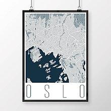 Obrazy - OSLO, moderné, svetlomodré - 8849955_