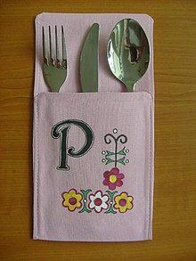Úžitkový textil - Textilné vrecko na príbor - 8846799_