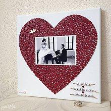 Darčeky pre svadobčanov - Srdiečkové srdce s fotkou farebné (Červená) - 8848892_