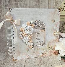 Papiernictvo - Svadobná kniha hostí - 8848269_