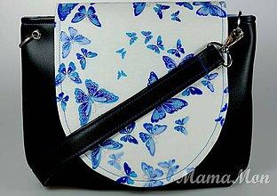 Kabelky - Dámska kabelka - crossbody s motýľmi - 8846497_