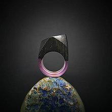 Prstene - Drevený prsteň: Kvet ebenu - 8851340_