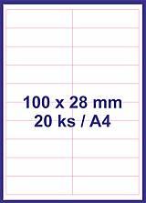 Papier - Print etikety 100x28mm biele - 8848067_