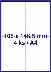 Papier - Print etikety 105x148,5mm biele - 8848108_