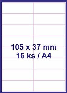 Papier - Print etikety 105x37mm biele - 8848147_