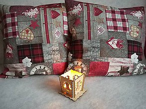 Úžitkový textil - Obliečky na vankúše vianočné zvýhodnená cena - 8846490_