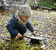 Detské čiapky - Béžová vlnená čiapka s patentom - 8849484_