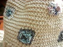 Detské čiapky - Béžová vlnená čiapka s patentom - 8849487_