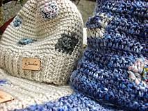Detské čiapky - Béžová vlnená čiapka s patentom - 8849490_