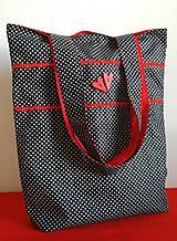 Nákupné tašky - Nákupná taška- srdiečka - 8847308_