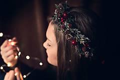Ozdoby do vlasov - Vianočný venček - 8851144_