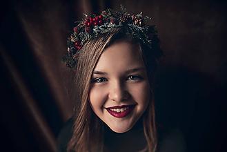 Ozdoby do vlasov - Vianočný venček - 8851137_