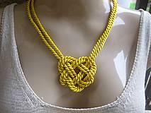 Uzlový náhrdelník (Žltý č.1617)