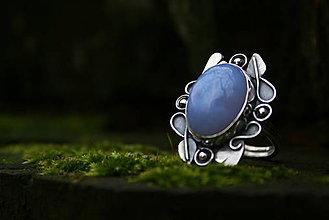 Prstene - Angel love - Chalcedónový striebroný prsteň - 8849366_