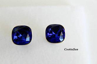 Šperky - Manžetové gombíky Square Parisian Blue - 8848769_