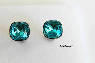 Šperky - Manžetové gombíky Square Turquoise - 8848770_
