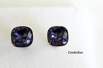 Šperky - Manžetové gombíky Square Purple - 8848820_