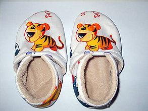 Topánočky - capačky tygríky - 8847263_