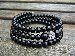 Náramky - Náramok z perličiek - vyber si (čierny) - 8847918_