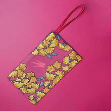 Kabelky - Listová kabelka s korunkou - Zlatý dážď - 8848413_