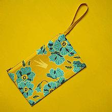 Kabelky - Listová kabelka s korunkou - Ľanový kvet - 8848434_