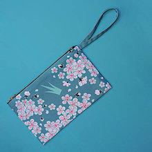Kabelky - Listová kabelka s korunkou - Čerešňový kvet - 8848675_