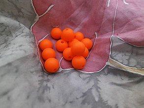 Korálky - Silikónové korálky oranžové - 4 ks - 8849076_