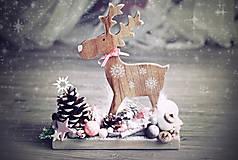 Dekorácie - Vianočný sobík veľký - dekorácia  PREDANÝ - 8849426_
