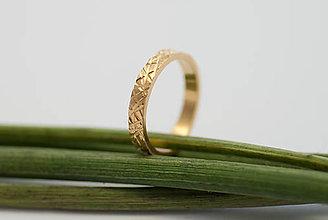 Prstene - Obrúčka obdĺžniková - ryhovaná - 8851116_