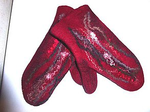 Rukavice - Dámske plstené rukavice - 8850153_