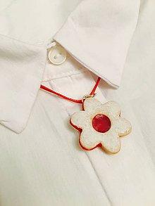 Náhrdelníky - linecký kvietok - náhrdelník - 8849150_