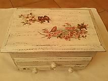 Krabičky - Vtáčikovie rodinka. - 8851832_
