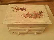 Krabičky - Vtáčikovie rodinka. - 8851835_