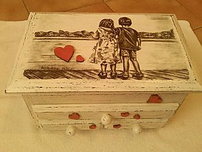 Krabičky - Srdiečková krabička. - 8851850_