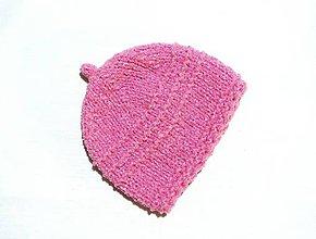 Detské čiapky - Detská čiapka ružová - 8854261_