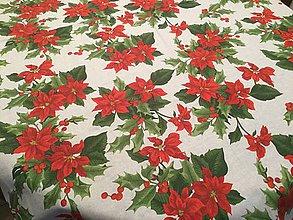 Úžitkový textil - Okrúhly vianočný obrus Ruža - 8854375_
