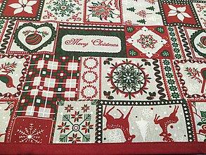 Úžitkový textil - Obrus vianočný Merry Christmas - 8854423_