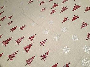 Úžitkový textil - Vianočný obrus stromčeky - 8854532_