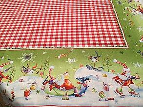Úžitkový textil - Obrus s vianočnú borďurou - 8854568_