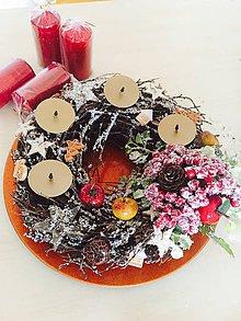 Dekorácie - Perníčkovo - jabĺčkový - Adventný veniec - predaný - 8853466_