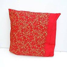 Úžitkový textil - Vianočná obliečka Červená - 8854276_