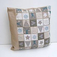 Úžitkový textil - Vianočná obliečka Béžová - 8854340_