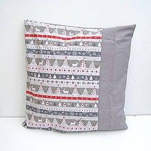 Úžitkový textil - Vianočná obliečka Sivá - 8854472_