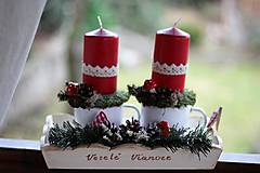 Dekorácie - Vidiecky vianočný svietnik - 8851516_